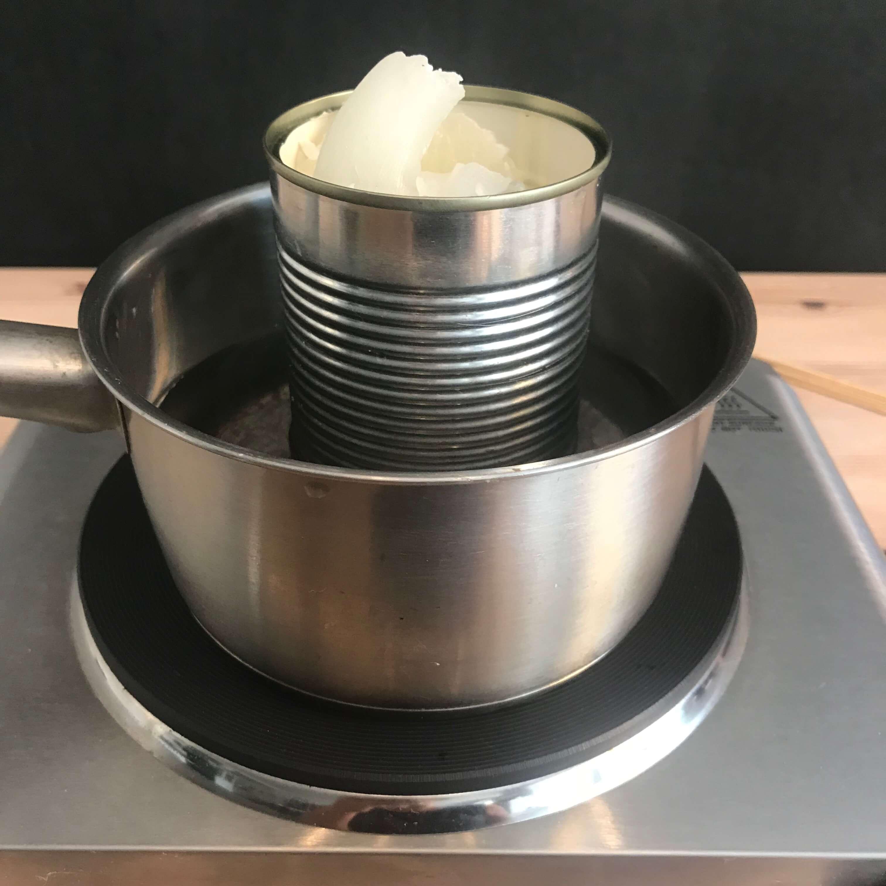 Citronella Kerzen selbermachen Wachs schmelzen