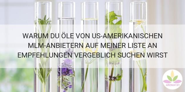 Ätherische Öle MLM Kritik