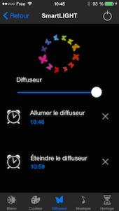 Régler heure d'activation/désactivation du diffuseur