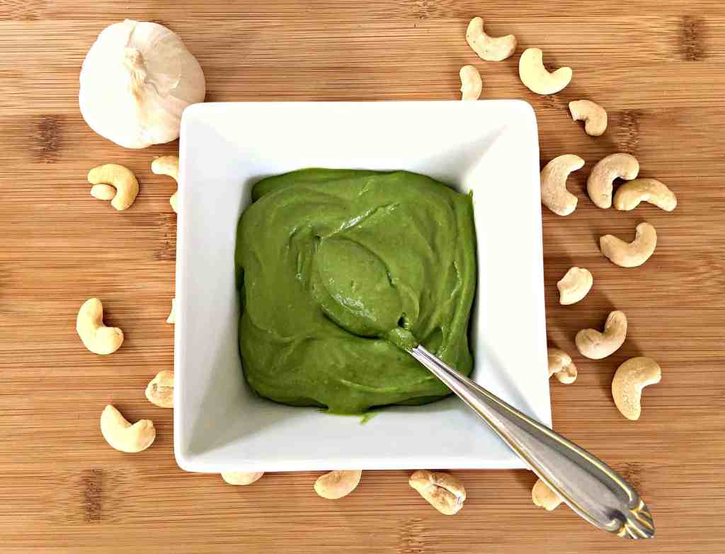 Vegan Pesto with Spinach and Cashews
