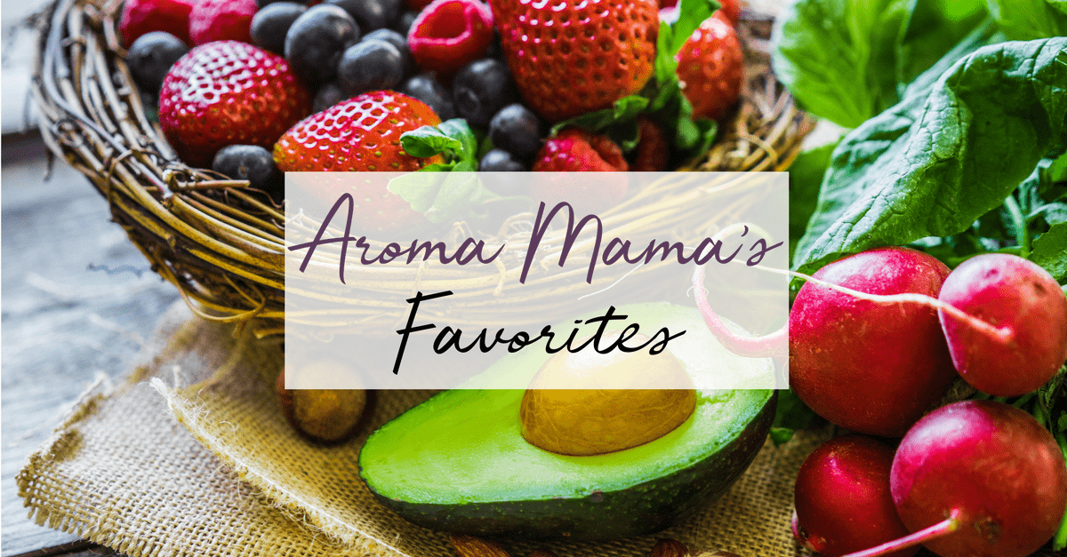Aroma Mama's Favorites Page is a resource to share the links to products that she buys for her family and recommends.