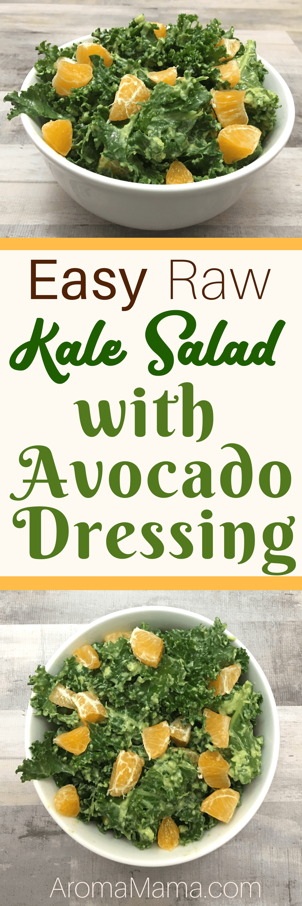 With my busy schedule, I need quick and easy recipes that are also healthy! This Easy Raw Kale Salad with Avocado Dressing is quick, easy, nutrient-dense and so delicious! This salad meets the standards for clean eating, Paleo, AIP, Keto, Vegan, and Whole30 diets.