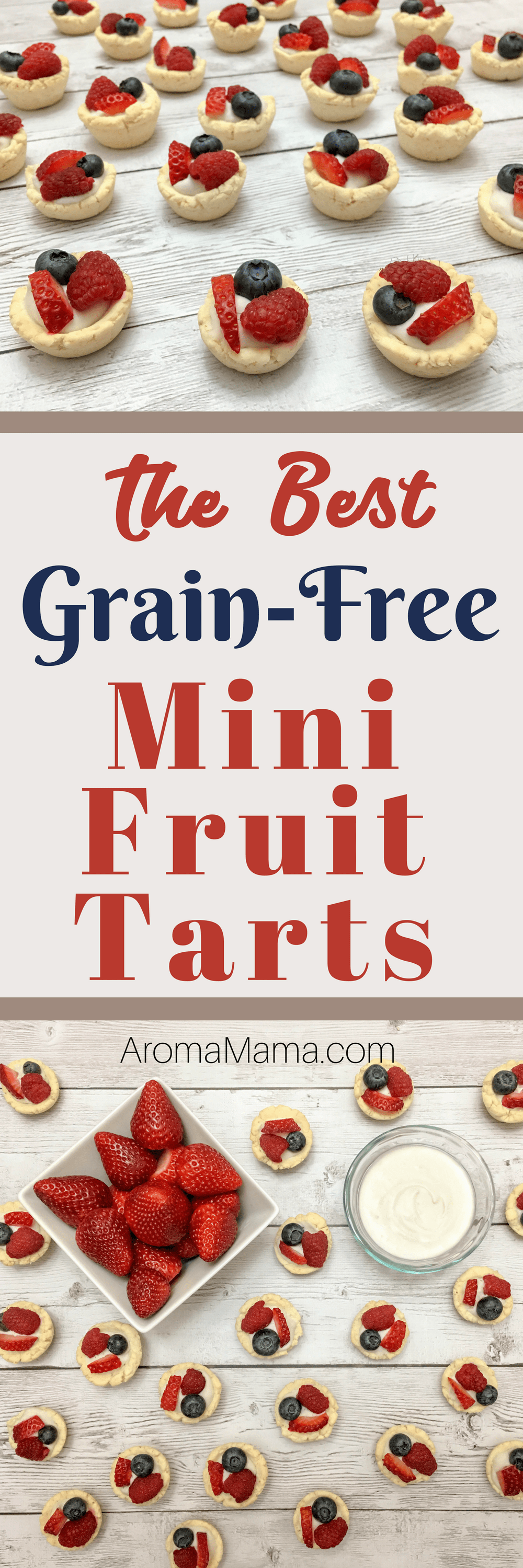 I can't wait for you to try this recipe for Grain-Free Mini Fruit Tarts! If you are on a special kind of diet, this recipe is compliant with grain-free, gluten-free, dairy-free, nut-free, egg-free, soy-free, refined sugar-free, Paleo, and the AIP diet. Wow, and it's so delicious too!