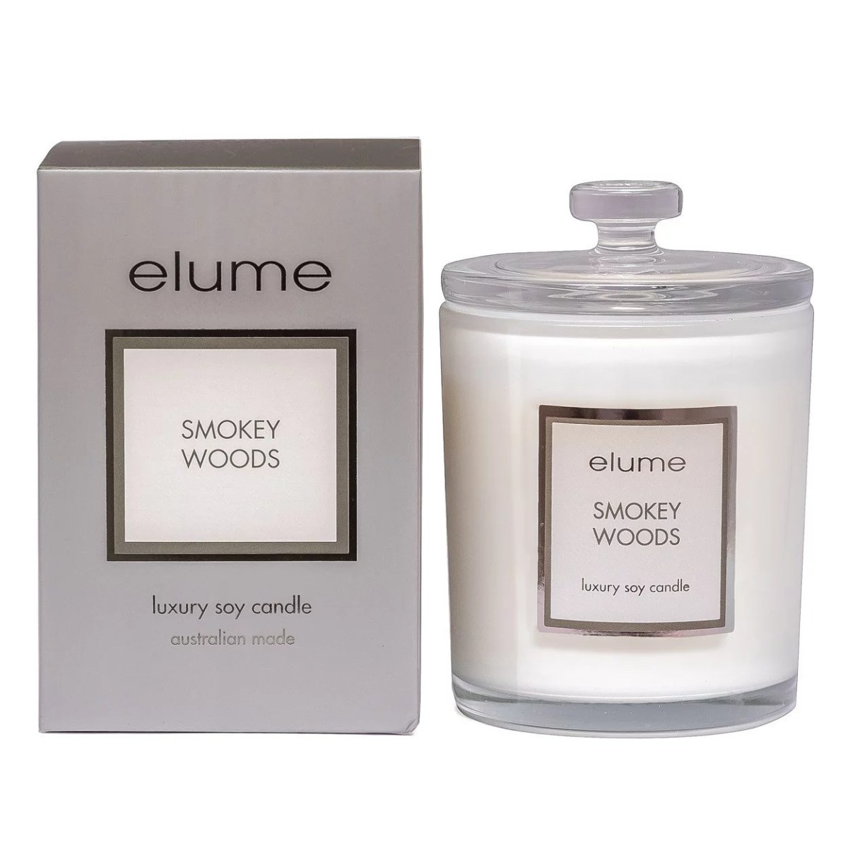 smoky wood jar scneted candle