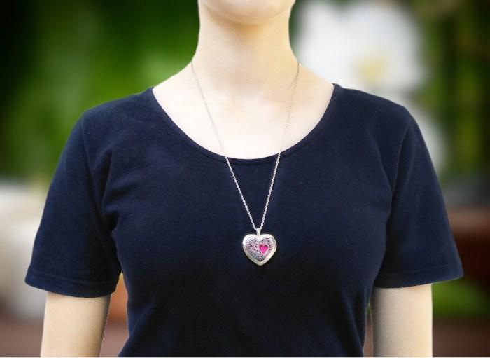 aroma šperk srdce s kryštálom nerezové na krku