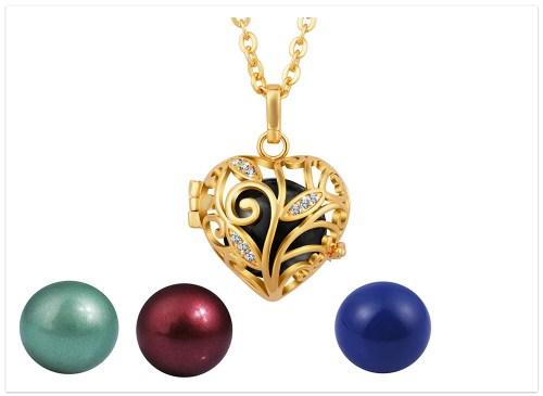 tehotenský prívesok srdce zlaté harmony ball