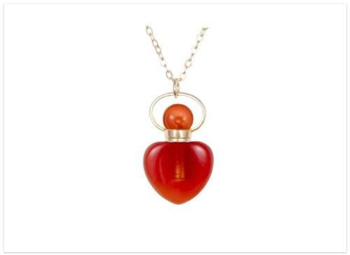 Aromatický prívesok Karneol srdce na ret