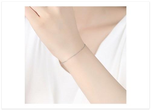 náramok strieborný čistý na ruk