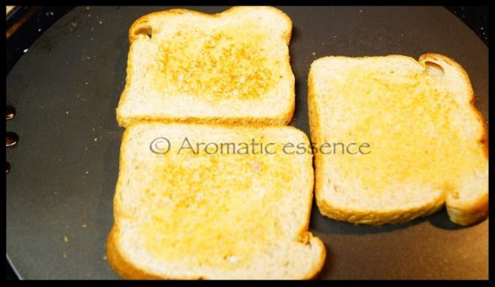 Toast the bread slices.