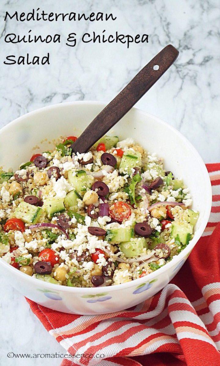 Mediterranean Quinoa Salad With Chickpeas