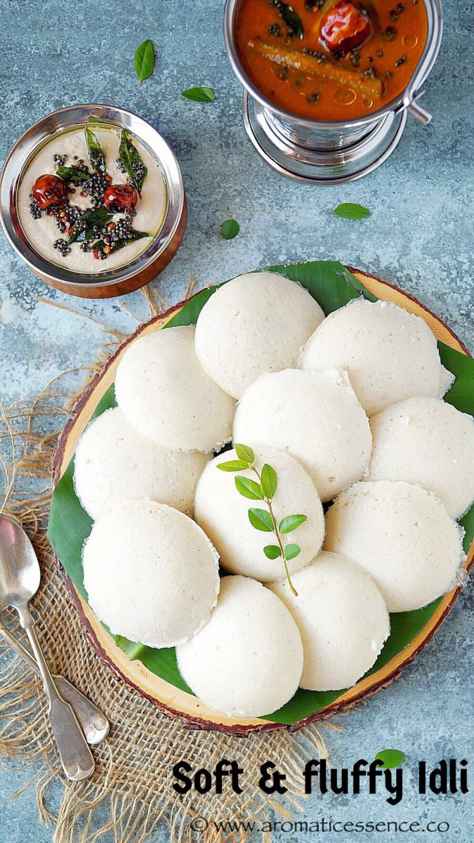 Soft Idli recipe (South Indian steamed rice cakes) | How to make idli & dosa batter in the mixer grinder