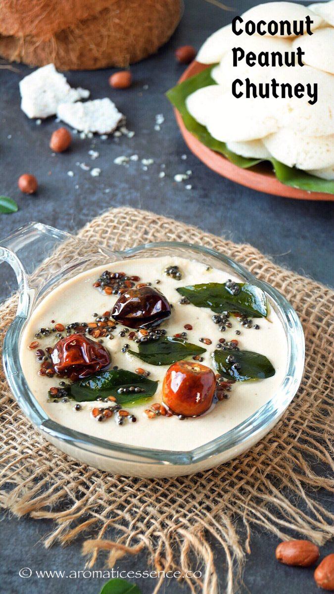 Coconut peanut chutney for idli & dosa (V+GF)