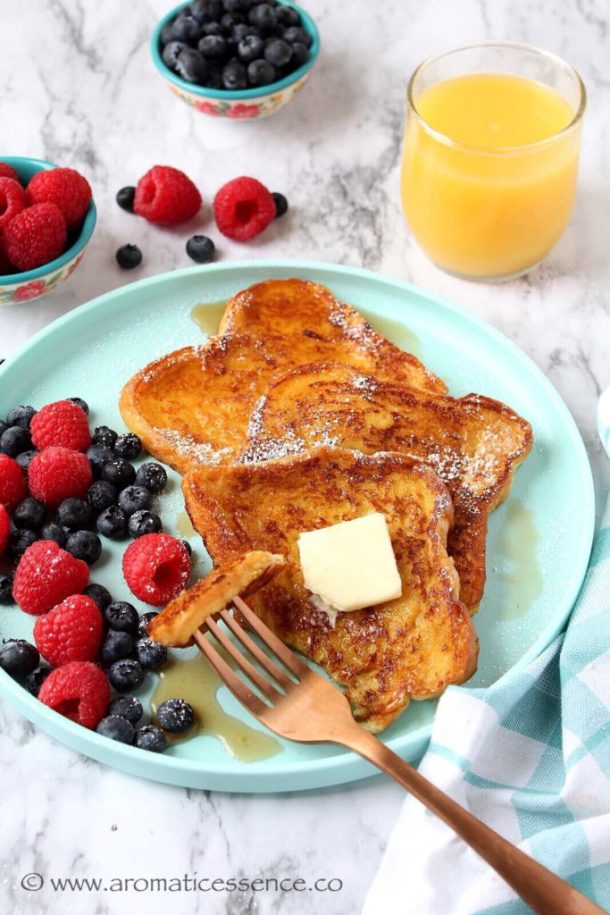 Eggless French Toast | French Toast Without Eggs | Simple French Toast Recipe