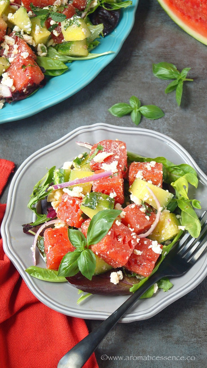 Watermelon Salad In A Plate