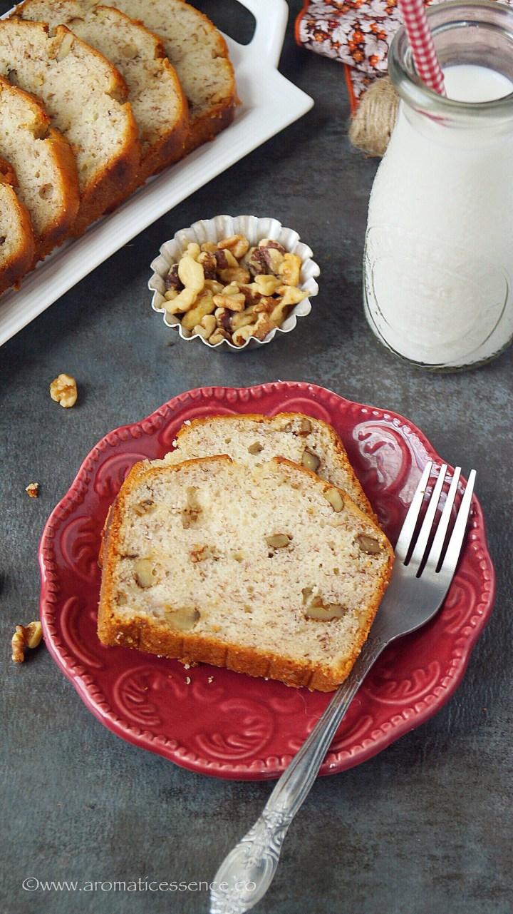 Easy Banana Bread Recipe (Eggless) | How To Make Banana Bread