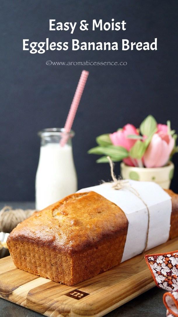 Easy Banana Bread Recipe (Eggless)   How To Make Banana Bread
