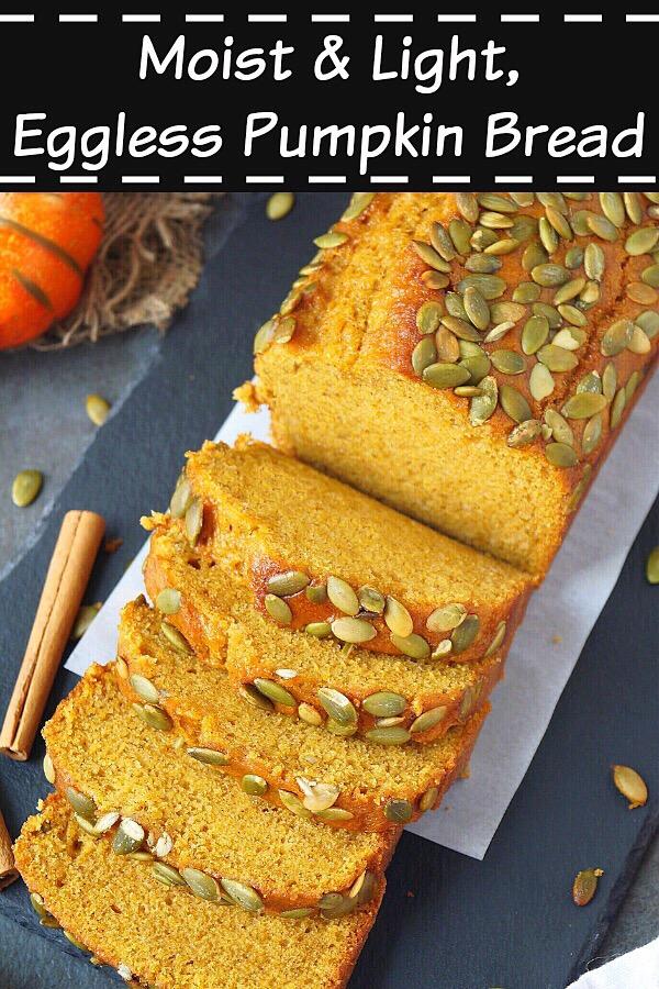 Pumpkin Bread Recipe (Eggless) | How To Make Pumpkin Bread