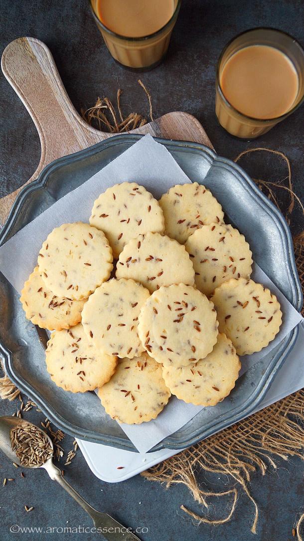Jeera Biscuits | Jeera Biscuit Recipe | Indian Cumin Cookies