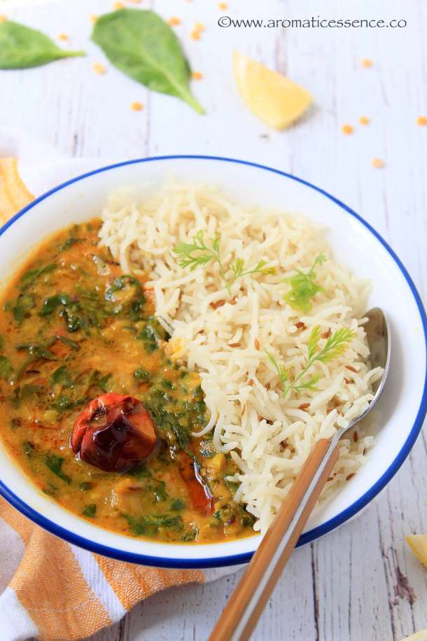 Dal Palak Recipe | Spinach Dal | Indian Lentil & Spinach Curry