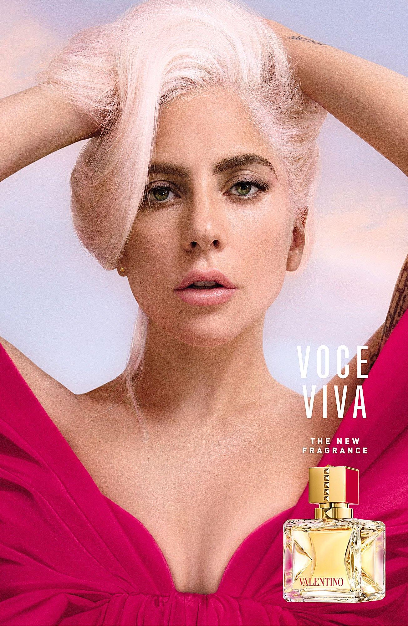 ليدي غاغا الوجه الإعلاني لعطر فالنتينو القادم Voce Viva Valentino