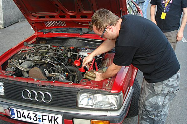 Rob Bambridge and his Audi Coupe, which we will be rescuing from Prague next week...