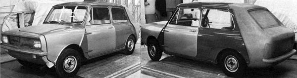 Silly ass: The aims of this experiment were to provide the Mini with improved styling and a larger boot. However, Haynes appears to have achieved little more than making the car look like the result of a nasty car crash between a Vauxhall Viva HB and a Hillman Imp. Thankfully this version remained behind closed doors (Picture: Mini, by Rob Golding).