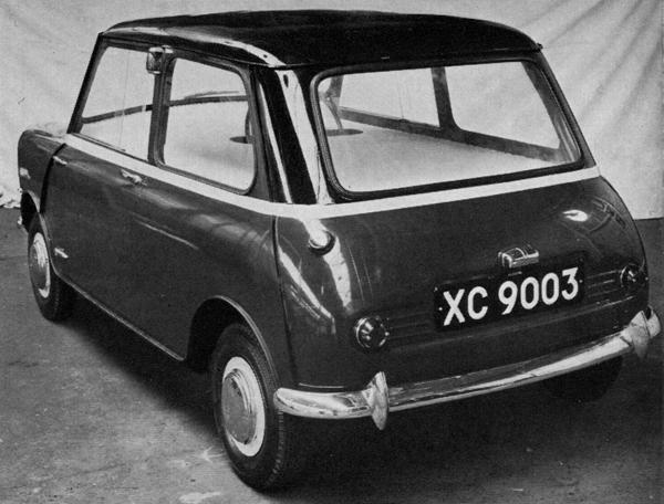 XC9003, July 1957 Rear three-quarters view of the above design