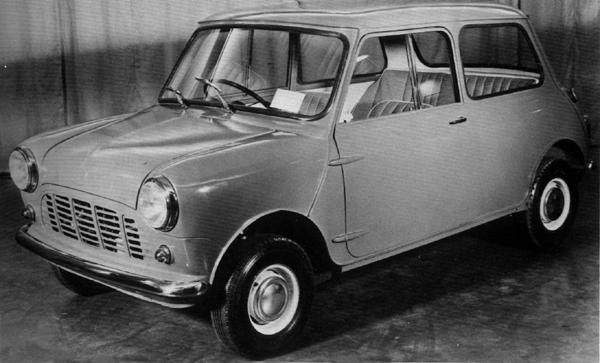 XC9003, 1958 Ever the minimalist, this is how Alec Issigonis would have preferred to see his brainchild launched; in fact, only the commercial versions of the Mini retained this car's simple grille