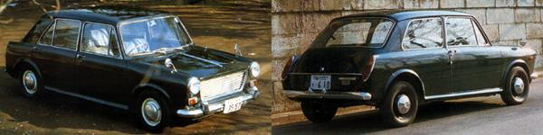 "Bread and butter: the standard ADO16s – seen here in 4-door Morris 1100 Mk1 and 2-door Austin 1300 Mk3 forms – also have their adherents in Japan, although they are nowhere near as popular as the ""posher"" versions."