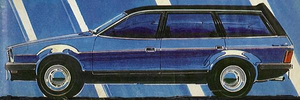 "The UK Press called loudly for this car, but because of lack of funds in the company and the fact that the Government were calling the shots in terms of investment, it never happened. The front wheel drive platform and compact suspension would have allowed for a huge boot. This picture (originally published in Motor magazine, 1977) makes an interesting comparison with the ""official"" sketch shown above."