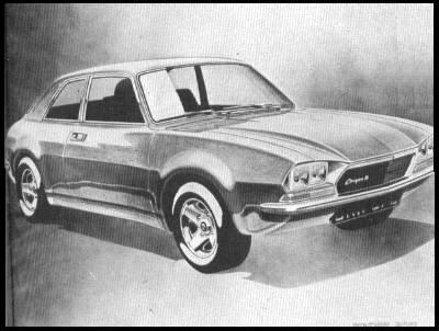 Paul Hughes design sketch: There's some Allegro in there somewhere in this drawing that was produced after the car was signed-off for production...(Picture: Autocar)