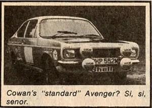 The infamous Andrew Cowan Avenger
