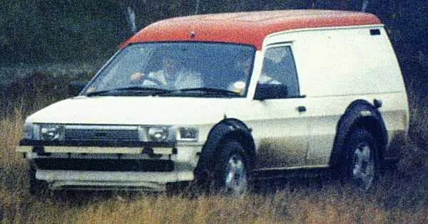 "Pathfinder ""mule"" undergoing trials during 1992... (Picture: CAR Magazine)"