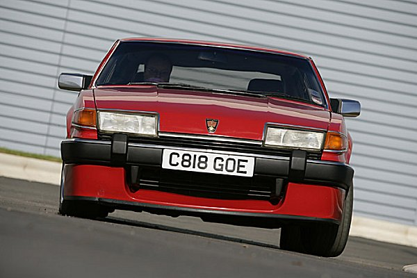 Giving it plenty, but failing to unstick the back end - tail happy? Not with super sticky tyres and uprated suspension...