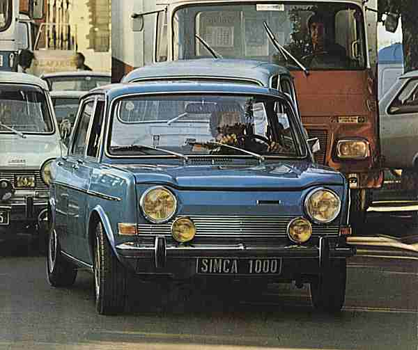 The cute little SIMCA 1000 proved an immediate hit with France's small car buyers...