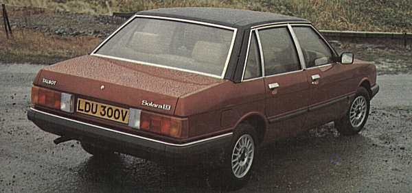Talbot Solara was launched in the UK in March 1980, and represented a logical extension of the Alpine range for the conservative Brits... (Photograph: MOTOR magazine)