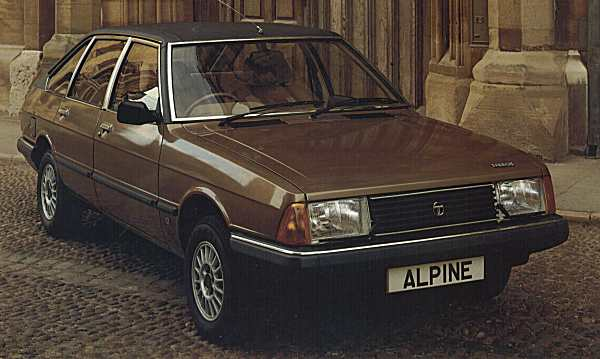 """A 1981 Talbot Alpine SX resplendent with its metallic paint and alloy wheels. It also sported a natty trip computer (""""Ordinateur de bord"""" as its evocatively called in French) and cruise control."""