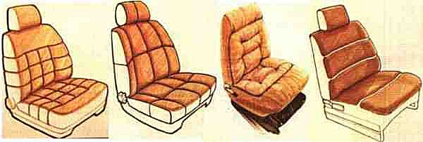 Pleated seat designs seem to have been finally adopted on the Talbot-Matra Murena.