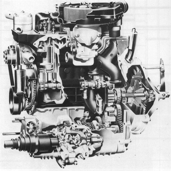 The A-Plus version of the A-series engine laid bare. The revised engine represented an investment of £30m, and would see service in the Mini, Allegro, Ital, Maestro and Montego, as well as the Metro for which it was originally developed.