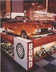 Bond Equipe Convertible at motor show