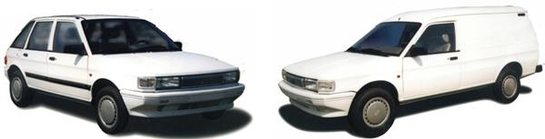 QE6400 hatchback and QE6440 van side-by-side – only minor cosmetic differences between these and the Cowley-built versions: notably, the hatchback's lack of black paint on the door frames, and the van's good-looking plastic front bumper.