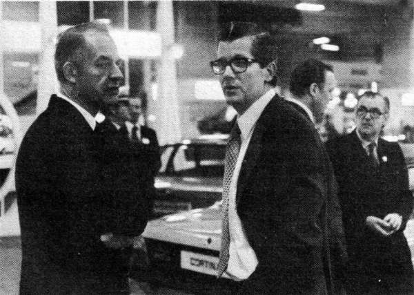 BL's Derek Whittaker (right) might have wished for the product range - and option to import from European factories - that Ford's Terry Beckett (left) enjoyed. (Picture: Ian Nicholls)