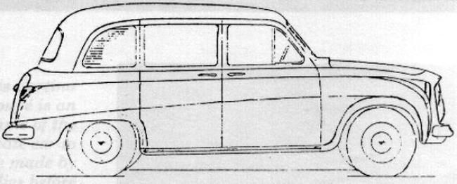 Classic lines: Eric Bailey's original drawing for the FX4, very close to the final product.
