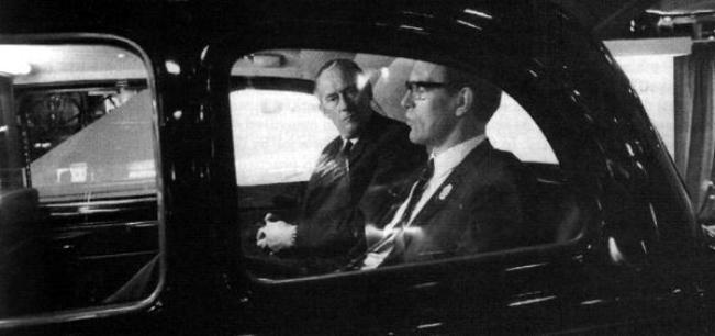 Old pals act: Geroge Turnbull (right) makes Bill Lucas an offer he would have been daft to refuse...