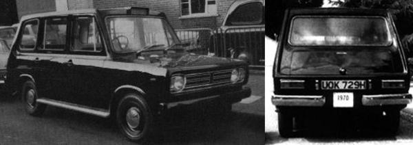 The original Metrocab design, derived from the ashes of the Beardmore Mark VIII project. Two hand-built examples entered service on trial, but the design never entered production.