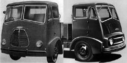 FV Series II cab in Morris (left) and Austin (right) forms