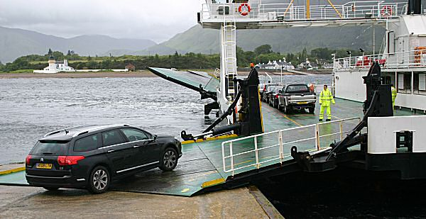 Our 30 second ferry crossing... That's £6 well spent, then.