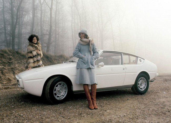 The Matra-Simca Bagheera Courreges was one of the first designer cars, available in white only, and with tan interiors featuring detachable Courreges-logo'd handbags on the door cards.