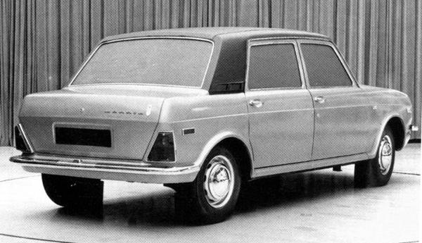 The Maxi was originally developed in both four- and five-door forms, but only the five-door model was launched. This styling mock-up shows what the four-door model would have looked like.