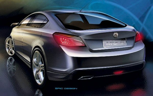 MG6 Rear end will be a radical departure from the Roewe 550 its based on
